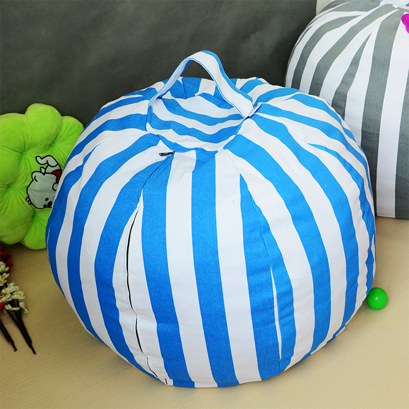 Creative Stuffed Animal Storage Bean Bag Chair Multifunctional Kids Toys Storage Bag Clothes Blanket Organizer Bags