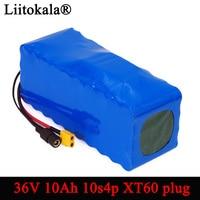 Liitokala 36 v 10s4p 10ah 500 w de alta potência e capacidade 42 v 18650 bateria lítio ebike scooter do motor da bicicleta do carro elétrico com bms