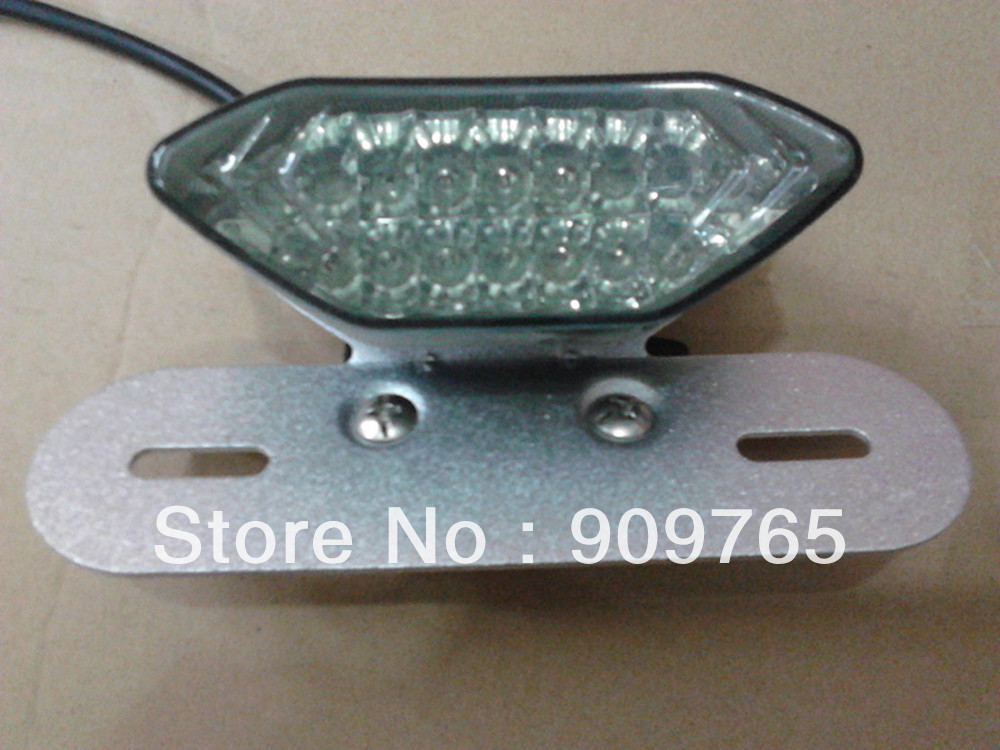 Clear Rear Turn Signal Brake Tail Brake Quad ATV MX Custom Street Bike Dual sport Light Plate Holder For Honda Suzuki Kawasaki