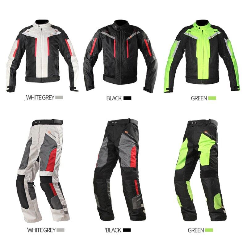 Водонепроницаемый мотоциклетный гоночный костюм мужская летняя куртка для мотокросса штаны сетчатая Защитная Экипировка мото одежда для