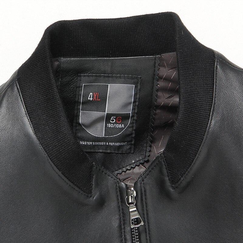 Gours Güz ve Kış erkek Hakiki Deri Ceketler Erkek Giyim Koyun Deri - Erkek Giyim - Fotoğraf 4