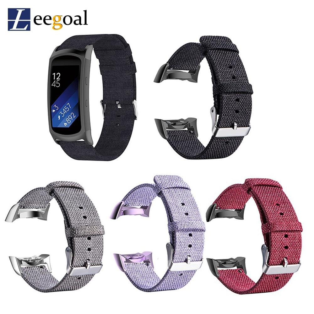 Buckle Nylon Canvas Watch Band Wrist Straps for Samsung Gear Fit2 SM-R360 SM-R350 SM-R365 Gear Fit2 PRO Smart Bracelet