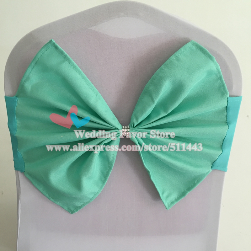 100pcs Tiffany Blue Lycra Banquet Chair Sash Tie Spandex Chair Cover Band With Polyester Bow For Hotel Party Wedding Decoration-in Sashes from Home u0026 Garden ... & 100pcs Tiffany Blue Lycra Banquet Chair Sash Tie Spandex Chair Cover ...