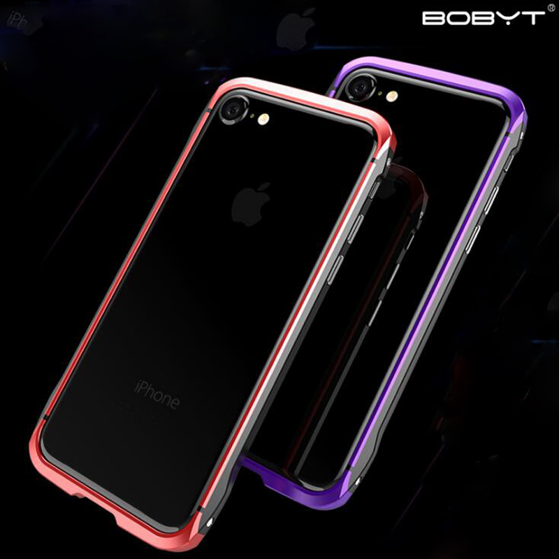 BOBYT Hybrid Color Aluminum Bumper Frame For iPhone 7/ 7 Plus Fashion Patchwork Design Protective Casing For iPhone7 7+