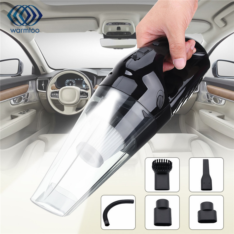 120W High Power Cordless Vacuum Cleaner Wet&Dry Portable Rechargeable Vacuum Cleaner with LED Light for Car Home