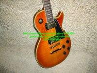 Wholesale OEM guitars Custom mahogany Electric Guitar Yelllow binding Best selling