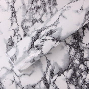 SUNICE PVC Thickening marble wallpaper/marble grain Vinyl For Kitchen Cabinet Countertop Wall Width:122cm Adhesive