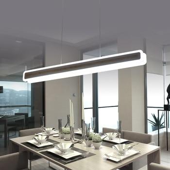 Blanco minimalista moderno Led colgante luces comedor hanglamp ...