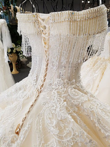 Image 5 - AIJINGYU Wedding Dresses 2021 Gowns Sequin Buy Bridal Boutique Newest With Long Tail Unique Gown Finland Wedding Dress Fabric