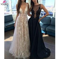 Роскошное Сексуальное Женское Платье, белое кружевное платье с v-образным вырезом и блестками, длина до пола, длинное платье с открытой спин...