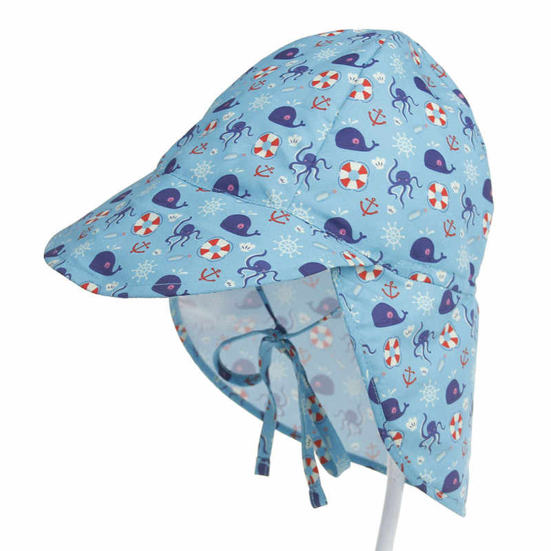 ac7cb0ee45b9e7 ... XDOMI Children Summer Sun Hat UPF 50+ UV Protection Outdoor Beach Hat  Neck Ear Cover ...