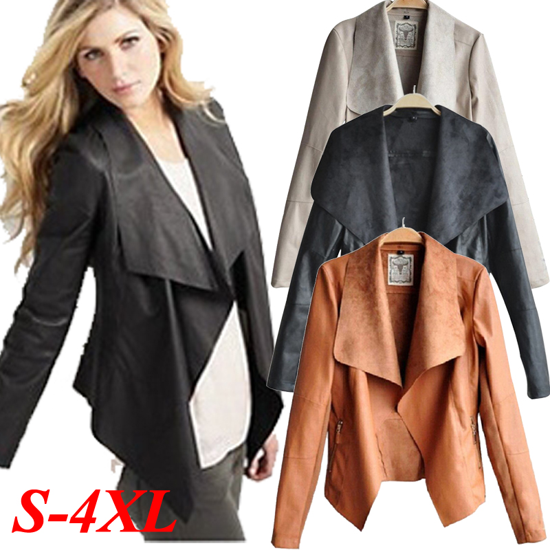 386a981804778a Womens Sexy PU Leather Jacket Biker Motorcycle Perfecto Zipper Sheepskin  Thin Coat Slim Top Plus Size Autumn Fall Winter Outwear-in Leather   Suede  from ...