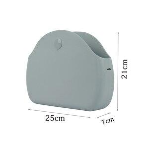 Image 5 - Tanqu Bolso de mano de silicona para mujer, bandolera de hombro de caucho, impermeable, con luz de Luna, Obag