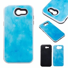 Phone Case For Samsung Galaxy J3/J310 J3Prime Prime Slim Thin 2 in 1 Drops of Glue Marble Design PC+TPU Shockproof Back Cover
