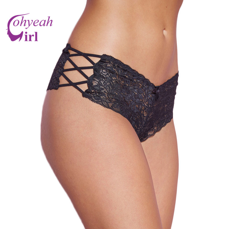 PW5124 Ohyeahgirl High quality black/red/white lace panties briefs popular plus size XL-3XL sexy women underwear sexy panties
