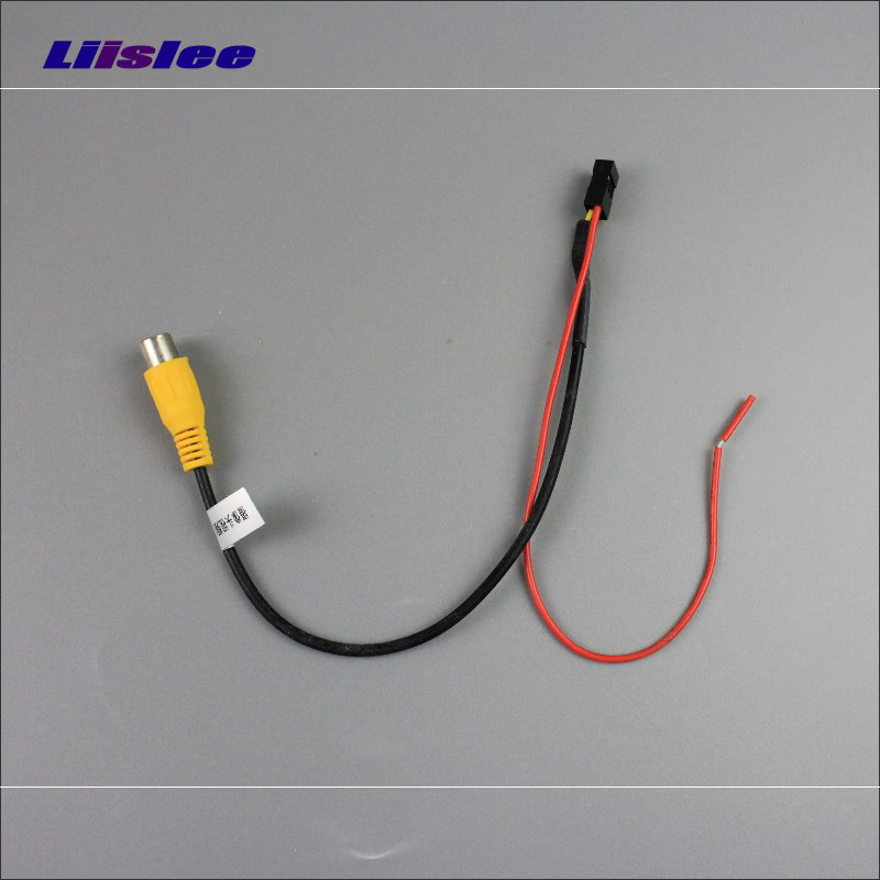 Liislee Original Display Input RCA Wire For Nissan Qashqai / Juke / Dualis 2007~2013 Rear Camera Switch Adapter Connector Cable