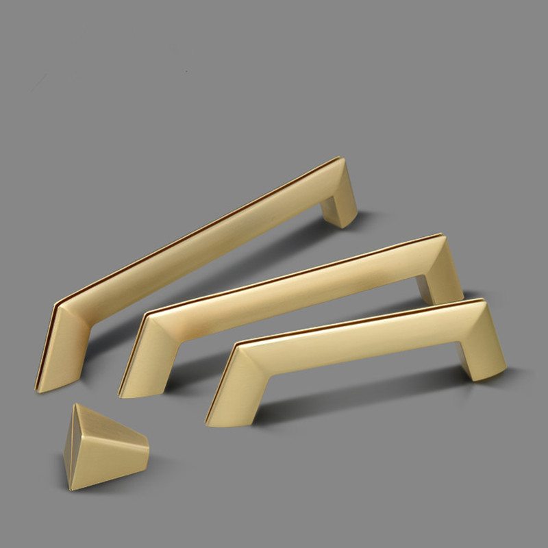 Modern Gold Plated Zinc Alloy Furniture handle Dresser Knobs Cabinet handles and Drawer Knob Pulls