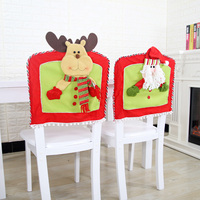 Christmas Decorations Seat Chair Cover Santa Snowman Elk Hat Dinner Christmas Gift Party Supplies