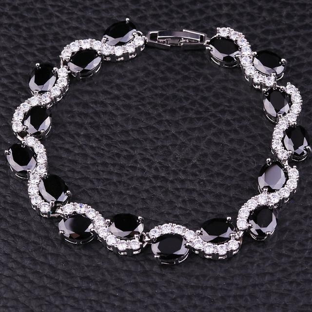Sellsets Classic Infinity Black Cubic Zirconia Women Bracelets Jewelry
