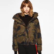 Winter Camouflage Jacket Women Coats Army Green Hooded Coat Camouflage Winter Parkas For Women Winter 2016 Army Green Coat Real