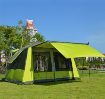 6 8 10 12 personne Camping en plein air 2 chambre 1 salon 2 couche auto conduite voiture famille partie soulagement tente Camping en plein air tente
