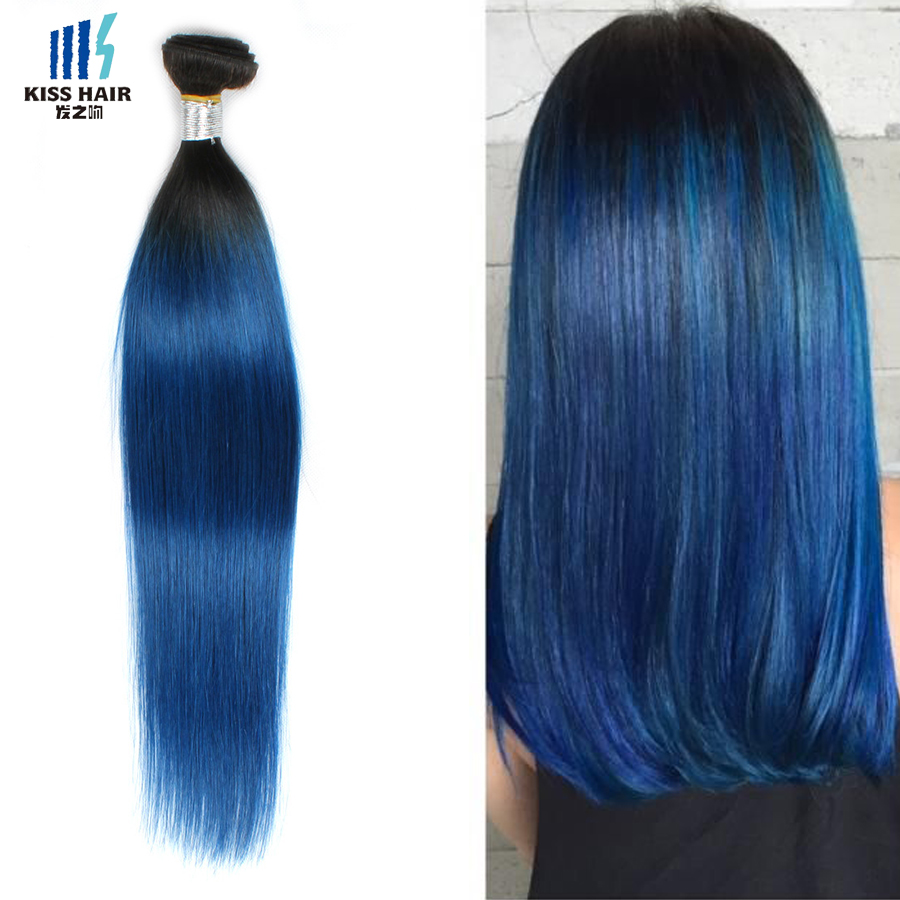 Black And Blue Ombre Hair Extensions Human Hair Extensions