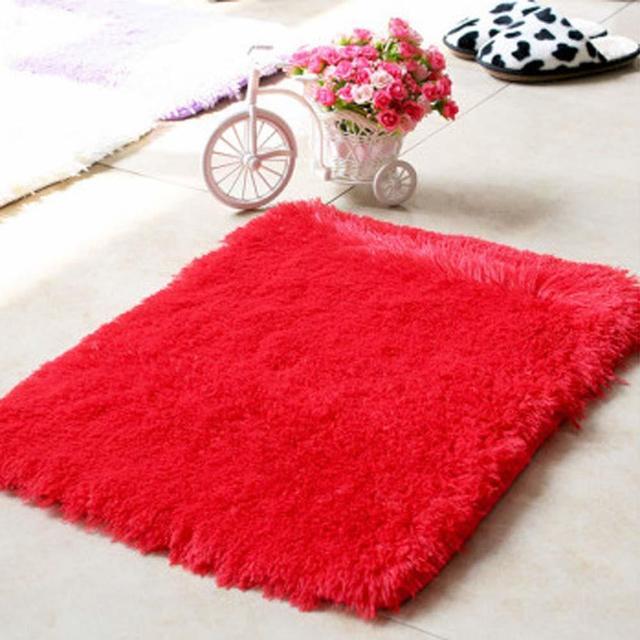 Hot Flauschigen Teppiche Anti Skiding Shaggy Bereich Teppich Esszimmer  Carpet Bodenmatte Rot Zottige Teppiche Shag
