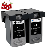 Hot 1 Set PG 40 CL 41 PG 40 CL 41 Ink Cartridge for canon Pixma iP2500 iP2600 iP1800 iP1900 MP190 MX300 MX310 MP160 MP140 MP150