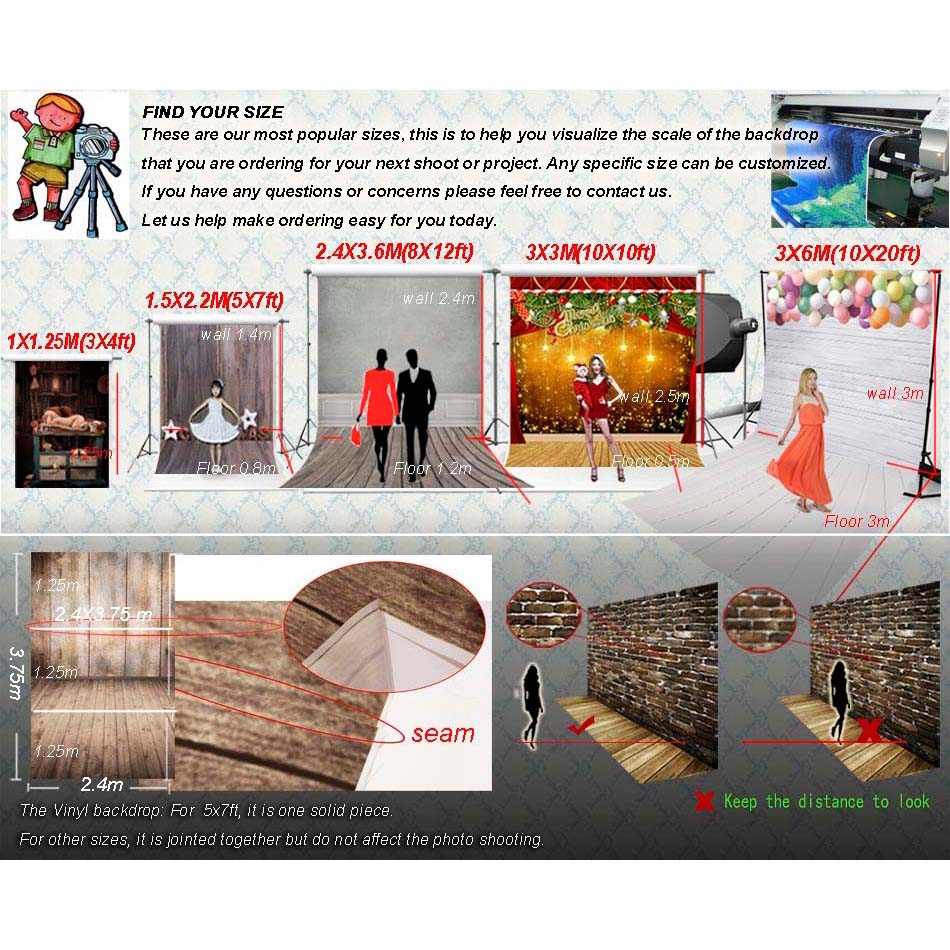 Image 5 - 5x7ft Vinyl Photography Background Brick Wall Wedding Backdrop Children Photo Background for photo Studio f 1351-in Background from Consumer Electronics