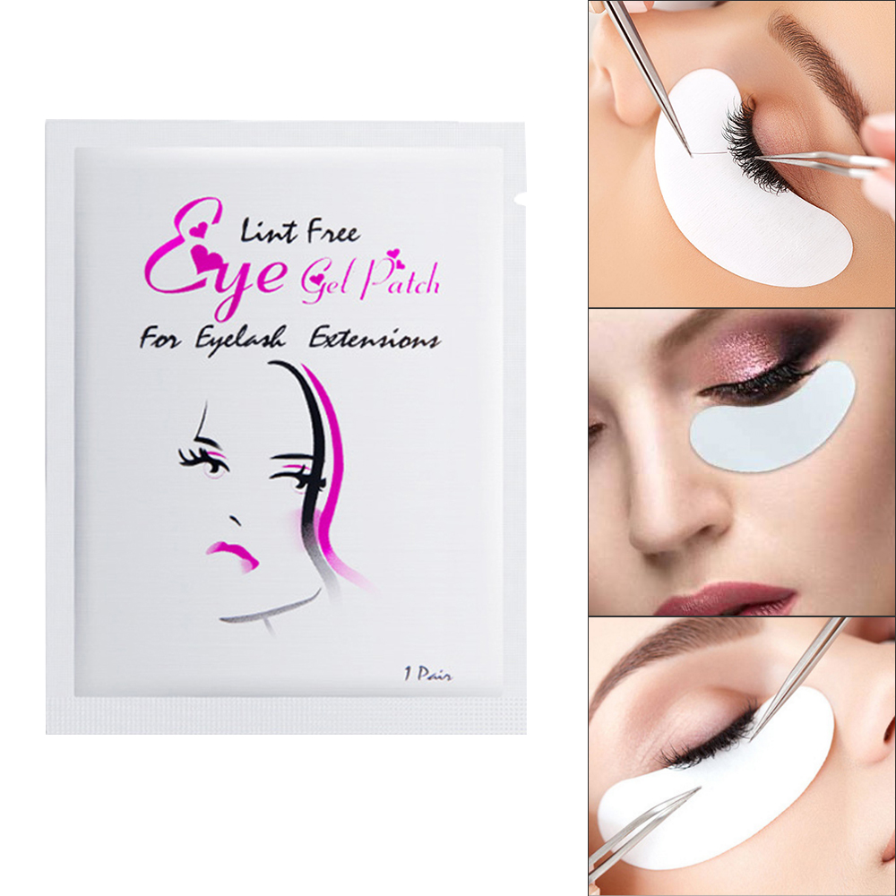 50/100 Pairs Eyelash Extension Under Gel Pad 4 Color Women Beauty Makeup Eye Pad