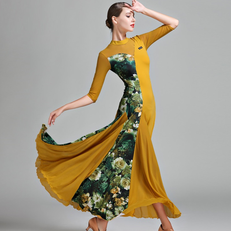 Ballroom dress woman ballroom waltz dresses ballroom dance clothes waltz dance costumes spanish flamenco dress fox-trot