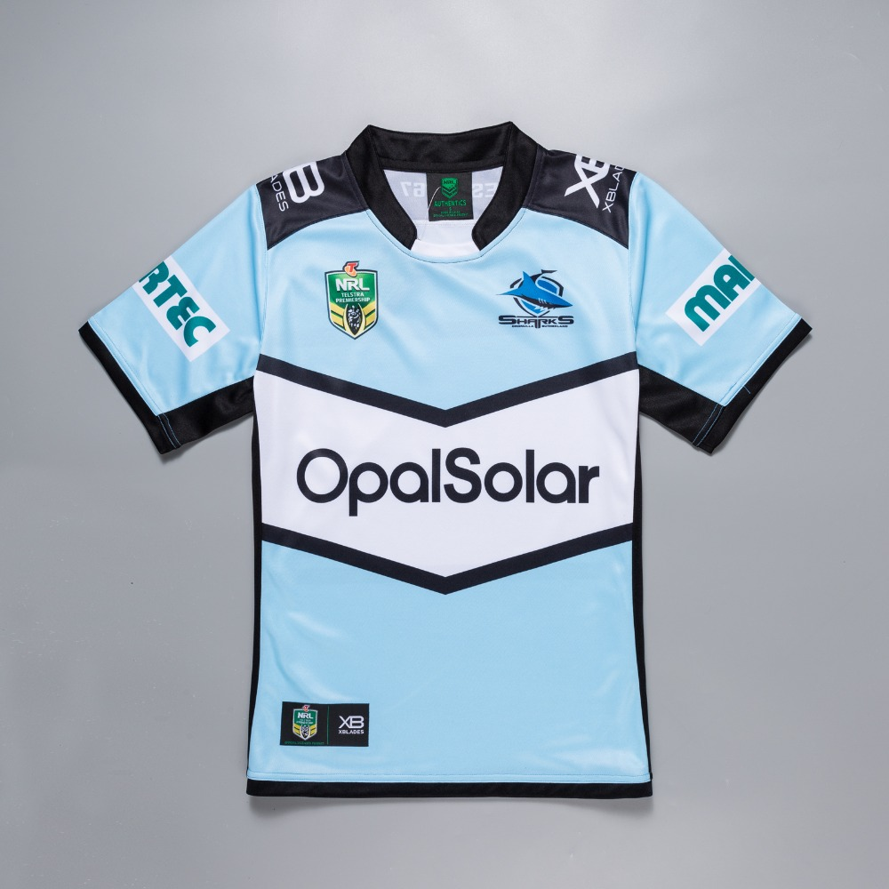 739604c45e4 Detail Feedback Questions about 2018 2019 new NRL high quality Cronulla  Sutherland Sharks rugby jerseys home Sharks rugby jerseys size S 3XL Free  Shipping ...