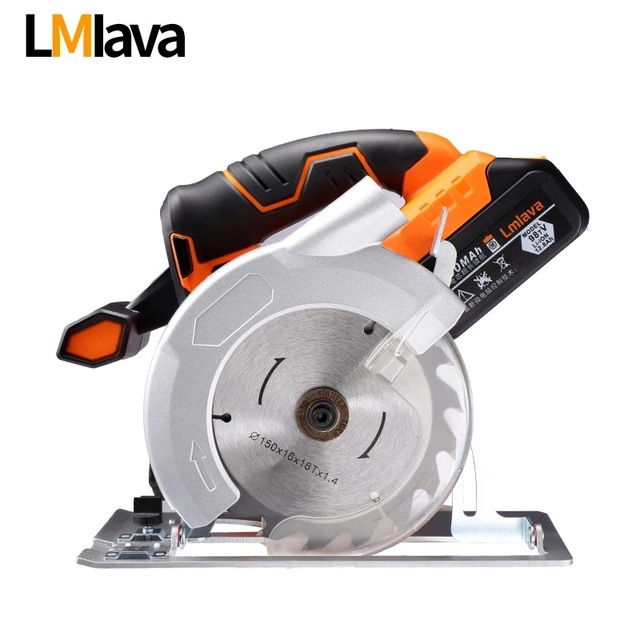 21V Cordless Circular Saw electric power tools with High Capacity  lithium Li-Ion Battery and Charger