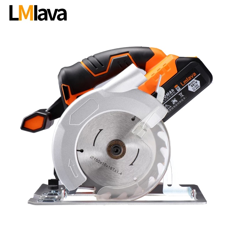 21V Cordless Circular Saw electric power tools with High Capacity lithium Li Ion Battery and Charger