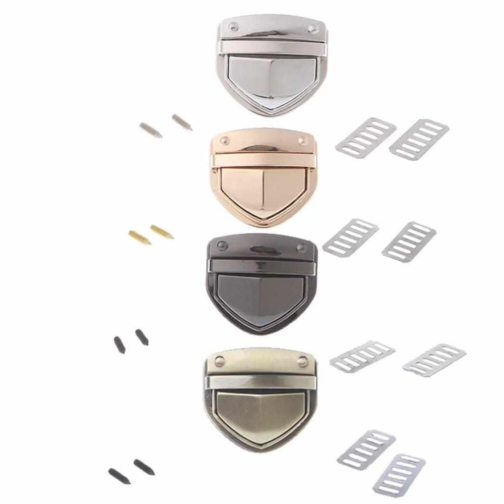 THINKTHENDO 4 Color Metal Clasp Turn Lock Twist Lock for  Handbag Bag Purse Hardware Accessories DIY THINKTHENDO 4 Color Metal Clasp Turn Lock Twist Lock for  Handbag Bag Purse Hardware Accessories DIY