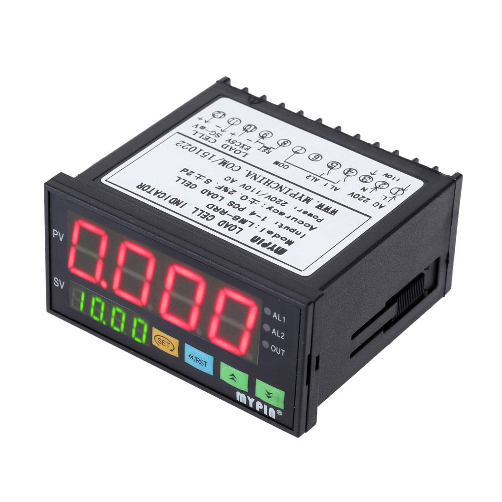 купить MYPIN LM8-RRD Digital Weighing Controller LED Display Weight Controller 1-4 Load Cell Signals Input 2 Relay Output 4 онлайн