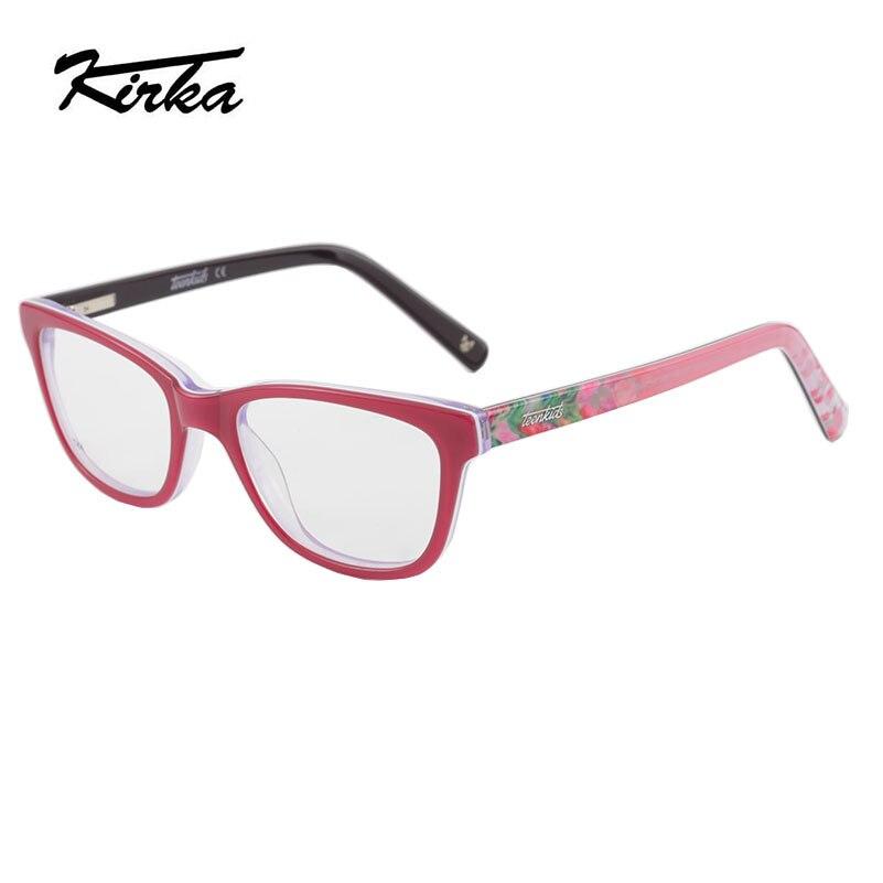 a512914f375a Kirka Safety Glasses Frame Kids Fashion Acetate Eye Glasses Frames for  Child Clear Lens Optical Glasses
