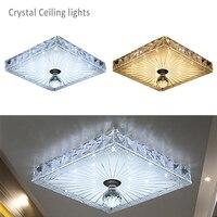 Square Crystal Plafonnier LED Ceiling Light Home Lighting Ceiling Luminaire Light Modern Led Ceiling Lamp