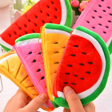 MIRUI Big Volume Watermelon School Kids Pen Pencil Bag Case Gift Pendant Cosmetics Purse Wallet Holder Pouch School Supplies(China)