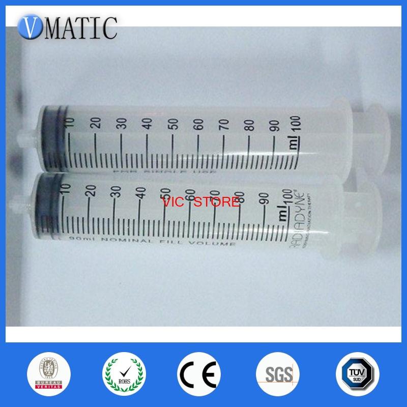 100ML Dispensing plastic Liquid Dispenser Syringe Needle Industrial glues,hand syringe yost 100ml plastic syringe with hose