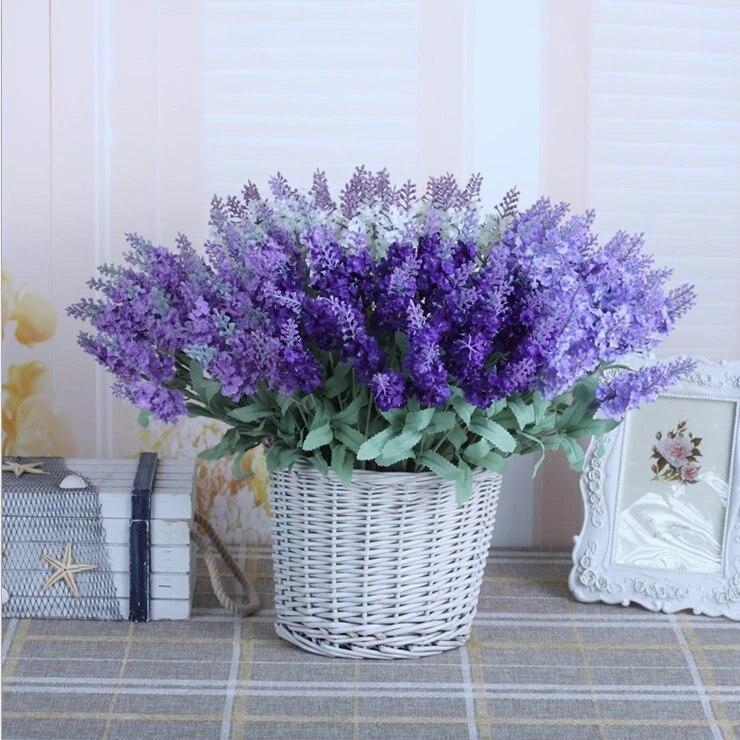 livraison gratuite bouquet de fleurs artificielles romantiques a la lavande 10 lot 9 lot pour decoration de mariage et de maison
