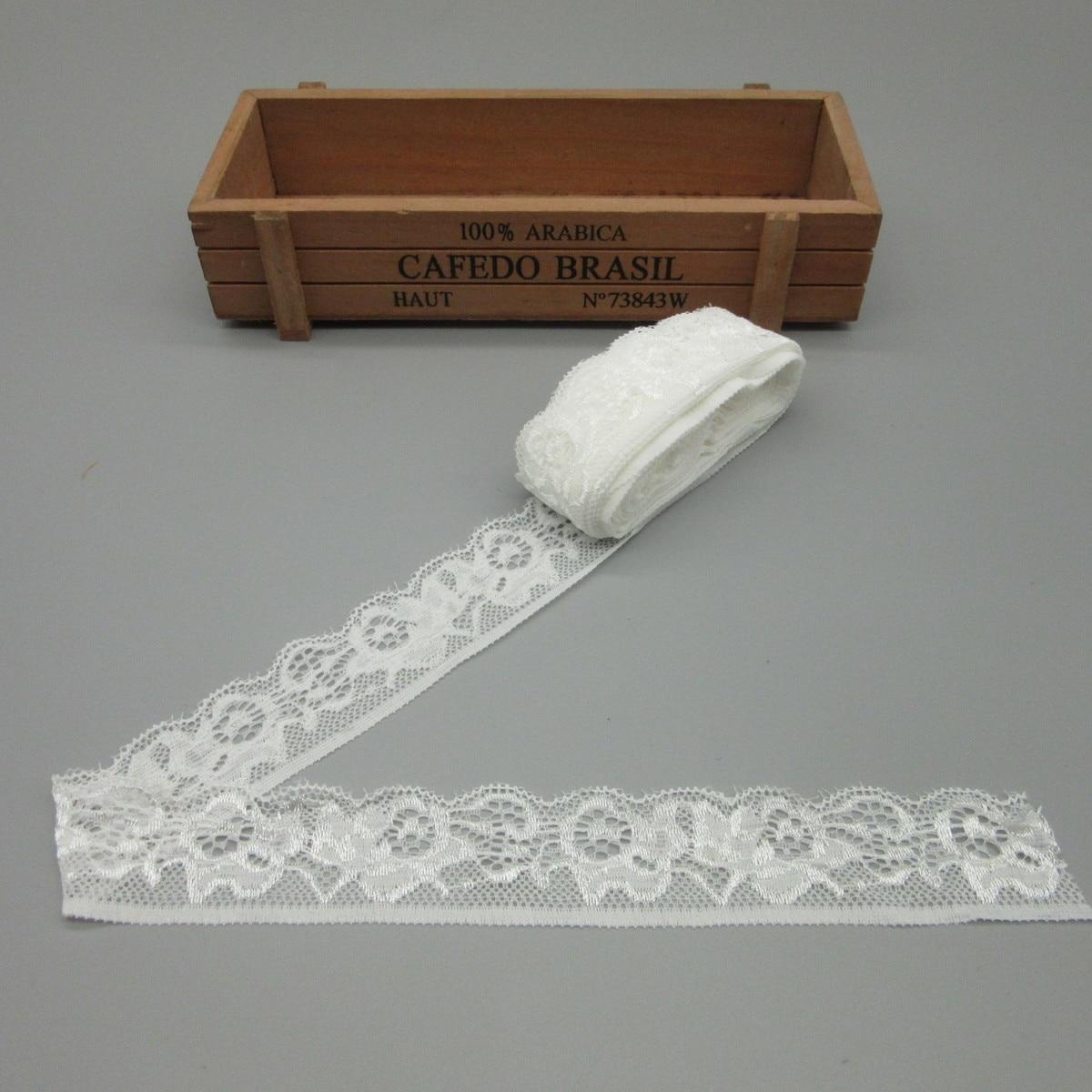Оптовая продажа 10 метров высокого качества белого эластичного кружева лента красивых 3 см различные Кружева отделка Сделай Сам костюм украшения