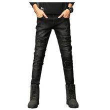 70f97a7f5 2018 nueva moda Jeans Hip hop rock moto mens diseñador ropa nueva moda  apenada ripped skinny denim biker jeans hombres pantalone.