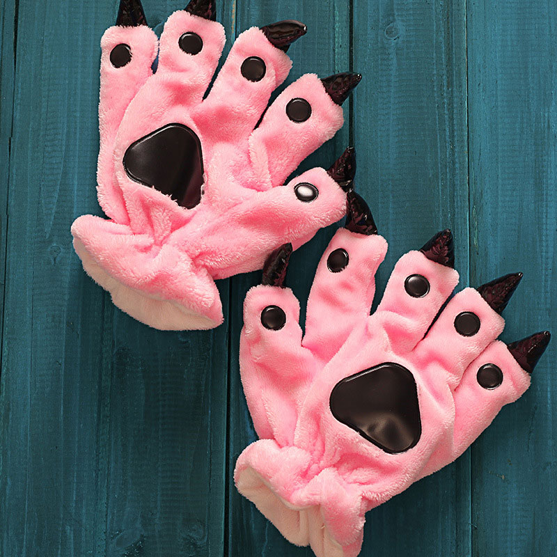 07cfe9575 Kigurumi Pajama Paw Shoes For Children Kigurumi Flannel Cartoon Pajama  Monster ShoesBoy Girl Blanket ...