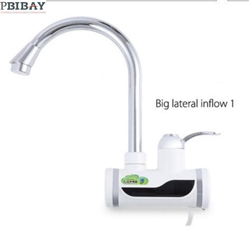 BD3000W-7, envío libre, agua caliente inmediato de la exhibición de digitaces, grifo eléctrico tankless, calentador de agua del grifo de la cocina