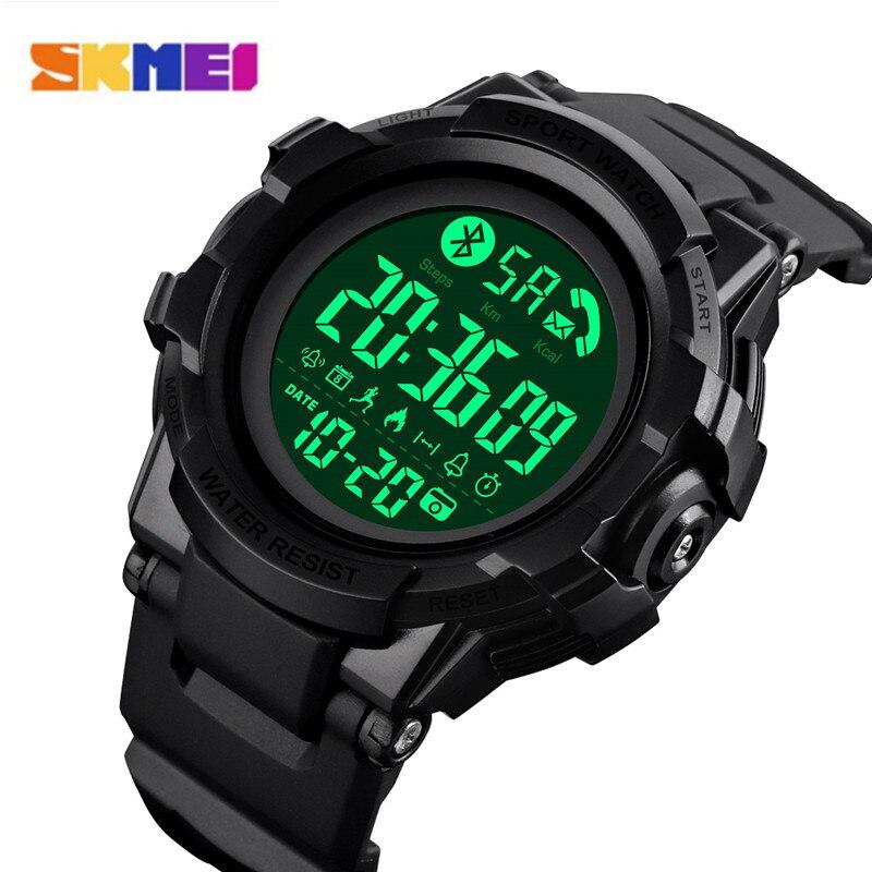 Skmei bluetooth relógio inteligente pedômetro calorias de luxo dos homens do esporte relógios monitor sono smartwatch reloj inteligente #1501