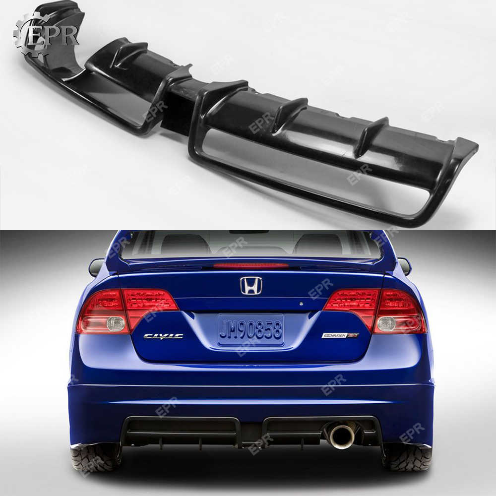 frp diffuser for honda 8th gen civic si mugen glass fiber rear diffuser civic fa usdm only body kit racing trim part for civic