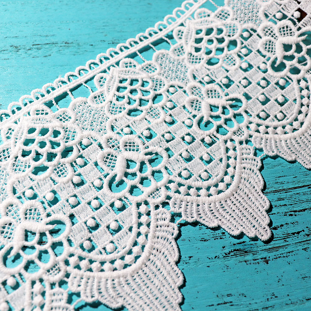 Cindylaceshow 1Yard Vintage Handicraft Lace Trim White Ribbon ...