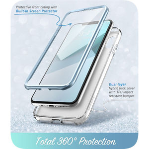 Image 5 - For iPhone X Xs Case 5.8 inch I BLASON Cosmo Series Full Body Shinning Glitter Marble Bumper Case WITH Built in Screen Protector