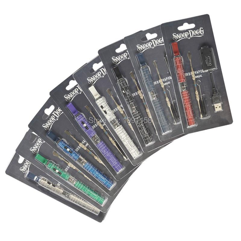 10pcs/lot Snoop Dogg Dry Herb Electronic Cigarette Blister Kits Snoop Dogg Herbal Vaporizer Wax Atomizer E Cigarette Vape Kits